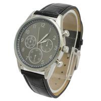 Free Shipping classic design brand vintage black Leather band Wrist Watch Unisex Vintage Quartz Watch