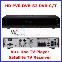 Free Shipping Vu Uno HD PVR DVB-S2 DVB-C/T 400MHz CPU Smart  Linux TV Player Vu+ Uno Satellite TV Receiver