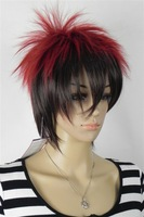 Fashion short multi-color cosplay wig with free durable wig cap with free shipping fee