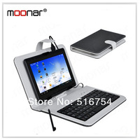 7 inch Keyboard Smart Cover Case For 7 inch Tablet PC With Pen Micro USB Port DA0171