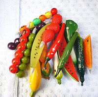 Hotsale! New fruit pen/Ball pen/ Fashion promotional vegetable pen 50pcs/lot Free shipping