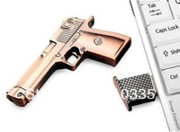 Metal Gun Model Full Capacity 4GB/8GB/16GB/32GB/64GB USB 2.0 Memory Stick Flash Drive