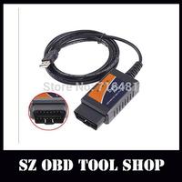 ELM327 USB , ELM327 V1.5 USB Diagnostic Scanner Auto Scanner OBD2 II Car Diagnostic Tool Auto Scan Tool FreeShipping!