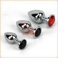 Free Shipping,Small size Metal Mini Anal plug Butt,Crystal Jewelry,Sex toys Product