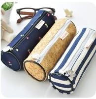 Pencil Box Multi-function Round Cylinder Creative Stationery Pen Case Holder Storage Bag