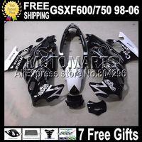 D873 7gifts for SUZUKI GSX600F GSX750F Katana 98-06 GSX 600F 750F GSXF600 750 98 99 00 01 02 03 04 05 06 CORONA Black Fairing