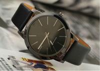 2014 Top brand  unisex men women dress  watch casual  leather strap  wristwatch quartz men watches lady vintage bracelet watch