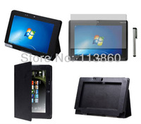 "3in1 For Acer Iconia Tab 10 10.1"" W500 W501 Tablet PU Leather Stand Case Cover+Screen Protector+Stylus Touch Pen Free Shipping"