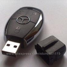 4GB 8GB 16GB 32GB Full Capacity Cute Benz USB 2.0 Flash Drive pendrive thumb Car Key Memory Card Pen(China (Mainland))