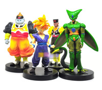 "Free shipping Anime Dragon Ball 6"" Trunks Cell Pefect  PVC Action Figure toy  ( 4 pcs/set )"