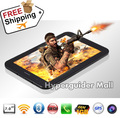 "7"" MTK8377 Tablet PC ZXC 3G GPS Bluetooth WIFI Dual core 1.2GHZ 1GB RAM 8GB ROM android 4.1 dual SIM 5.0MP camera free shipping"