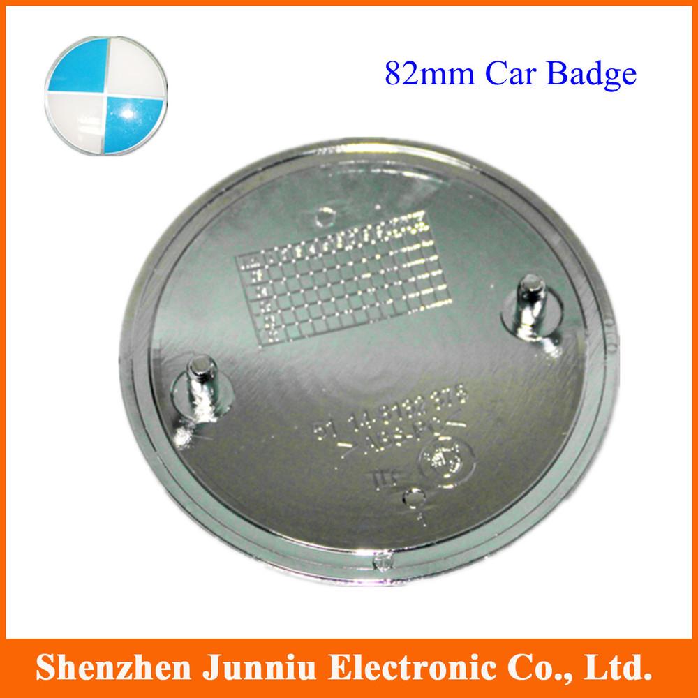 30 Pcs/lot Cheap 82mm White & Blue Auto Car Badge Emblem High Quality Free shipping(China (Mainland))