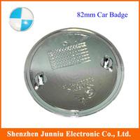 30 Pcs/lot Cheap 82mm White & Blue Auto Car Badge Emblem High Quality Free shipping