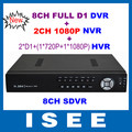 ISEE STYLE New CCTV 8CH Full D1 H.264 DVR Standalone Super DVR SDVR/HVR/NVR Security System With HDMI, Support 1080P IP Cameras