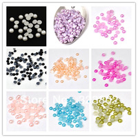4MM Flatback Half Round Acrylic Pearl Button Bead for DIY Projects Garments Bags Shoes Cell Phone Case Decoration-3000PCS