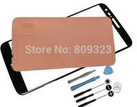 For  LG G2 D800 D801 D803 VS980 Outer Screen Glass Lens/ Digitizer Cover+Tools+housing glass frameTape free shipping