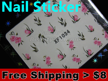 Water transfer nail designs adhesive Nail Stickers decals Nail Art  Colorful flower  #0775