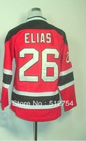 Free Shipping, #26 Patrik Elias Kids/Youth Hockey Jersey,Ice Hockey jersey,Embroidery logos,size S--XL,Accept Mix Order