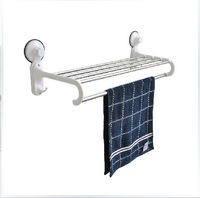 Stainless steel towel rack double layer lengthen towel rack bathroom shelf with hook hardware bathroom