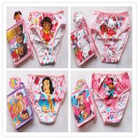 Wholesale High Quality Baby Girls underwear cotton cartoon Dora Princess shorts Baby briefs Children's underwear kids panties