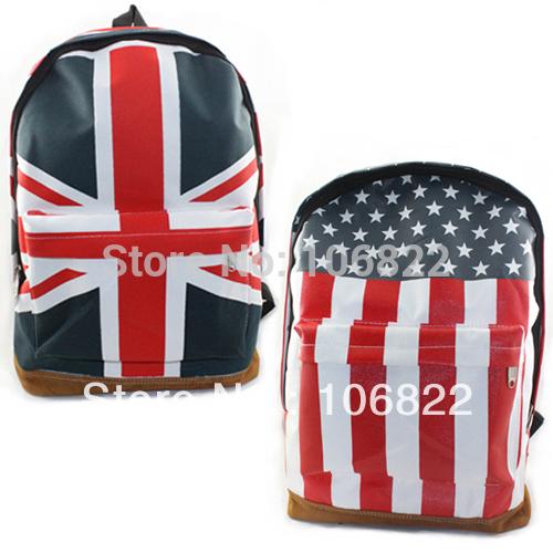 Cool Unisex Handback UK/US Flag BackPack Shoulder School Bag Tavel Sports Bag(China (Mainland))