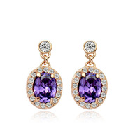 Golden/White 18K Gold Plated Earrings Jewelry Top Quality Great Austrian Crystal Earring Wholesale  1743682