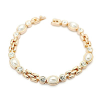 Exquisite Quality 18K White/Roee Gold Plated Bracelet Jewelry Austrian Crystals Best Seller Wholesale 1775075