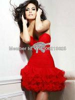 Best Selling 2013 New Design Sweetheart Sheath Red Cocktail Dresses Short Custom Made