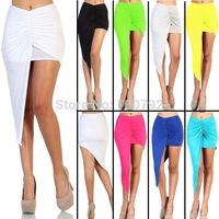 8 Color Asymmetrical Draped  Skirt Bandage Summer Women New 2014 Vintage Geometric Party Cotton Maxi Long Skirt