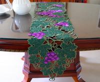"Grape Cutworking Tablecloth table Runner 13X70""(33x176cm)"