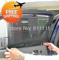 Automatic retractable car  window  curtain sun-shading curtain pleated blinds sunscreen, automatic car curtain, free shipping