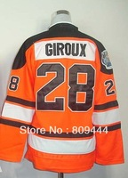 Free Shipping,Ice Hockey Jersey,#28 Claude Giroux Kids/Youth Hockey Jersey,Stitched Logos,Size S--XL,Accept Mix Order