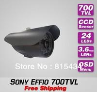Free shipping Sony effio 700TVL IR CCTV outdoor use bullet waterproof security surveillance video camera installation fro home