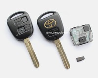 for Toyota Prado , Camry , Previa , Wish 2 Button Remote transponder key 433mhz