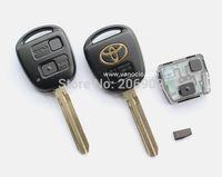 for Toyota Prado , FJ Cruiser , Camry , Previa , Wish 2 Button Remote transponder key 433mhz