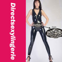 Rubber Fetish Wear Black Stretchy Catsuit Full Extent of You Sexiness Sassy Dress LC9153 Cheap price Free Shipping Fast Delivery
