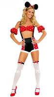 Free shipping ML5008 Costume for women Cheap Playful Cosplay Minnie mouse Costume