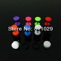 New arrive Hot wholesale piercing body jewelry 8mm 160pcs lllusion cheaters solid colors Acrylic ear Fake Plugs free shipping