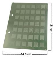 16 Style A-P Series XL Medium Size Konad Stamp Stamping Image Plate Print Nail Art Large BIG Template DIY