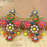 Free Shipping Fashion Bohemian Vintage Chandelier Earrings Fashion Ethnic Earrings GE031