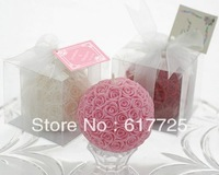 1Piece/Lot 3Colors ,Big Rose Scented Candle Wedding Gift Wedding Favor ,Free Shipping , Reasonable Price , High Quality