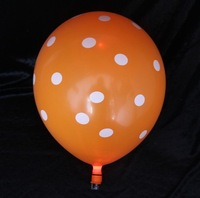 Flashing LED Latex Balloon Dot Printed For Valentine's Day 50 PCS/LOT