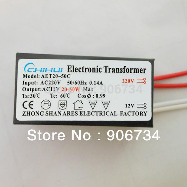 New AC12V 20-50W AET20-50C LED Lam Power Supply Driver Electronic Transformer(China (Mainland))