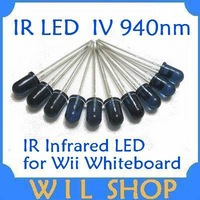 Free shipping wholesale 50pcs/lot 5mm 940nm Infrared Emitted LED IR Diode LED