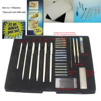 72pcs pen set!!Free shipping Hot sale Stainless Steel 6pcs Pen and 66pcs Refills Total 72pcs Pen Set