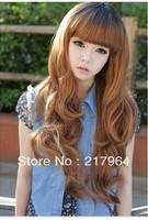 Free Shipping New Fashion Female fluffy scroll long wig
