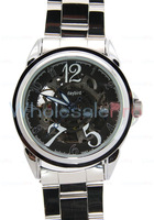 WholesalePro Daybird Silver MOVT Automatic Mechanical Skeleton Mens Watch