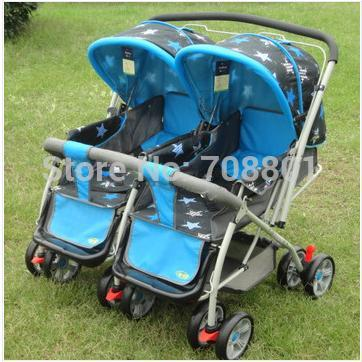 5 wheels Twins stroller baby carriage/ prams/ buggy Retail & Wholesale freeshipping, 4 color for opption(China (Mainland))
