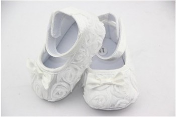 Free shipping  Hot Pink Mary Jane Baby Shoes,Girls Toddler Soft Sole with Rose Flowers,Baby Prewalker Shoes 0050