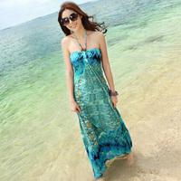 2014 new  fashion Beach dress bohemia long dress plus size one-piece dresses free shipping